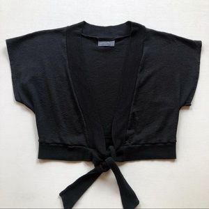 Michael Stars Ballet Cropped Tie Front Cardigan